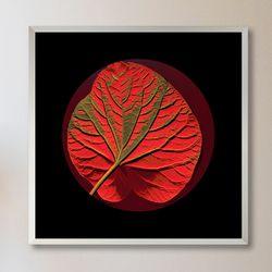 LP 메탈 액자 - 붉은 잎