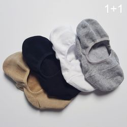 [1n1] 베이직 코튼 훼이크 삭스