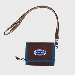 [N] Ncover logo necklace wallet-brown