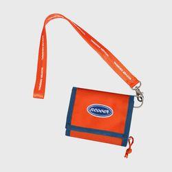 [N] Ncover logo necklace wallet-orange