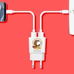 스누피 듀얼M 충전기 (2.1A) 타입C 케이블포함