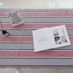 핑크 블라썸 워싱 리넨 테이블 커버 L 135cmx175cm