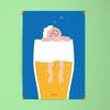 유니크 디자인 포스터 M 골든슬럼버 맥주 A3(중형)