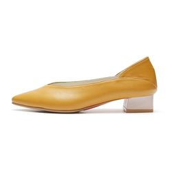 PM0009 2way V cut bloafer mustard