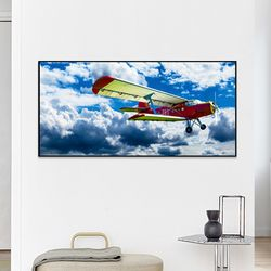 A2와이드 FA353 창공의 비행기 알루미늄 슬림대형액자