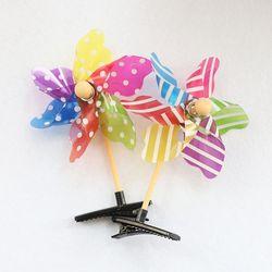 바람개비 머리핀 (플라스틱)
