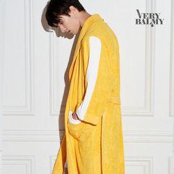 VERYBALMY 밤부 라인 샤워가운 Lemon Yellow