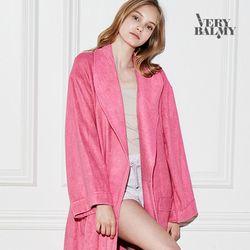 VERYBALMY 밤부 미니 샤워가운 Hot Pink