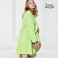 VERYBALMY 밤부 미니 샤워가운 Lime Green