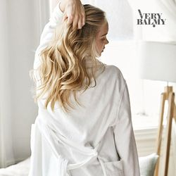 VERYBALMY 밤부 미니 샤워가운 Silky White