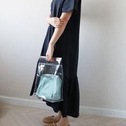 메르시 PVC 투명 토트백(파우치 세트)