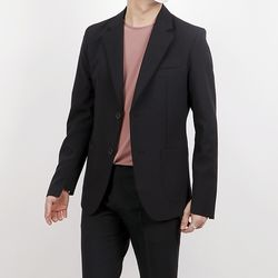 Unbalanced sleeve suit jacket