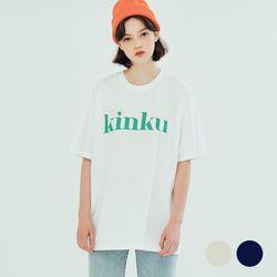 (UNISEX) 킨쿠 베이직라인 빅로고 티셔츠 (2COLOR)