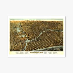 빈티지아트포스터 - MILWAUKEE WIS 0023