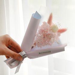[드라이플라워]라그라스 수국 꽃다발(핑크)