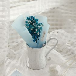 [드라이플라워]안개꽃 꽃다발(블루)