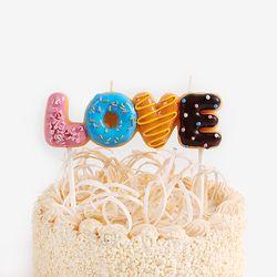 스윗 러브 도넛 캔들 set