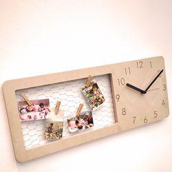자작나무 심플철망 시계