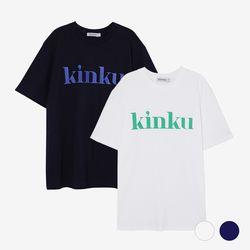 [1+1(선택가능)] (2PACK) 킨쿠 베이직라인 빅로고 티셔츠 (2COLOR)