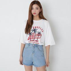 [로코식스] 썸머 야자수 티셔츠