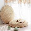 라탄 해초 왕골 짚 원형 대형 핸드메이드 방석 45cm