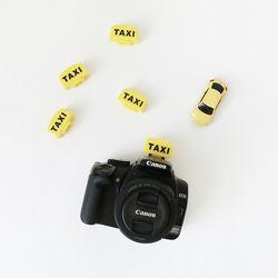 옐로우 택시 DSLR 미러리스 플래시 핫슈 보호 커버