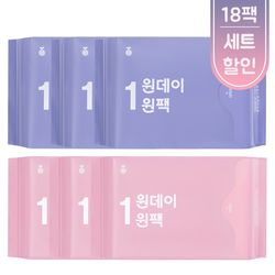 [무료배송] 원데이원팩 유기농 생리대 3개월세트(18일분)-총 18팩