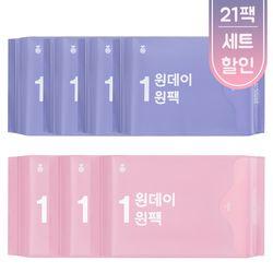[무료배송] 원데이원팩 유기농 생리대 3개월세트(21일분)-총 21팩