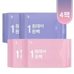 [무료배송/1만원 론칭팩] 원데이원팩 유기농 생리대-총 4팩