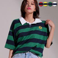 G.Club Striped Polo Shirt(4color)(unisex)