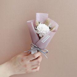 [드라이플라워]장미 꽃다발(핑크 랩)