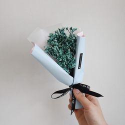 [드라이플라워]잔디꽃 꽃다발(블루)