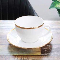 퓨어화이트 골드링 커피잔 1인세트