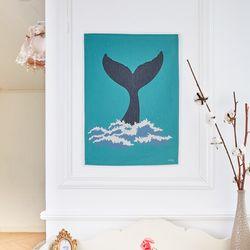 고래 패브릭 포스터 (M 사이즈)