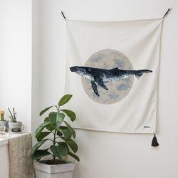 고래 패브릭 포스터 (행잉L 사이즈)