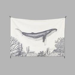 고래 패브릭 포스터 (태피스트리)