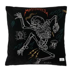 MASTERPIECE VELVET THROW PILLOW BLACK