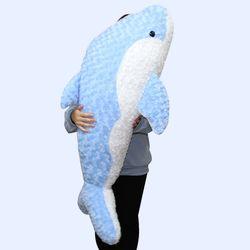 이젠돌스 돌고래 인형 스네일돌핀 블루 왕 115CM