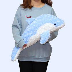 이젠돌스 돌고래 인형 스네일돌핀 블루 중 65CM