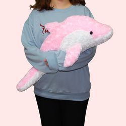 이젠돌스 돌고래 인형 스네일돌핀 핑크 중 65CM