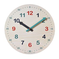 저소음 타임스터디.우드벽시계 ( 컬러오픈 280)
