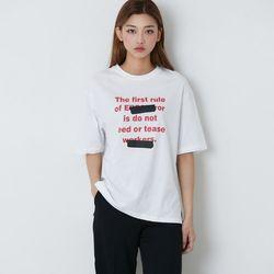 [로코식스] 바이미 레터링 티셔츠