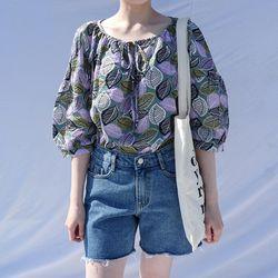 Leaf cool blouse