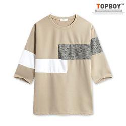 [탑보이] 더블 라인 7부티셔츠 (RT609)