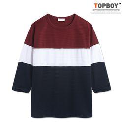 [탑보이] 어반 삼단 7부 티셔츠 (RT586)