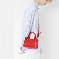 LEATHER 3WAY MINI BAG (RED)