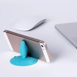 실리콘 펭귄 핸드폰 거치대 WSA102