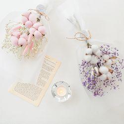 시그니쳐 목화와 허니테일꽃다발 [2color]