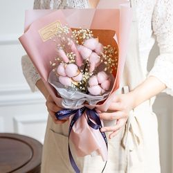 시그니쳐 목화와 허니테일꽃다발 - 꽃다발추가포장