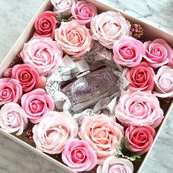 핑크로즈플라워 선물상자